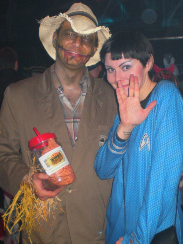 halloween 2011 vogelscheuche spock Wie ich zu Halloween als Vogelscheuche verkleidet auf Fräulein Spock traf