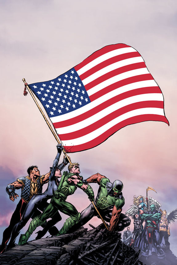 JLA 11 DC: Die ersten 3 der 52 Variants von Justice League of America #1