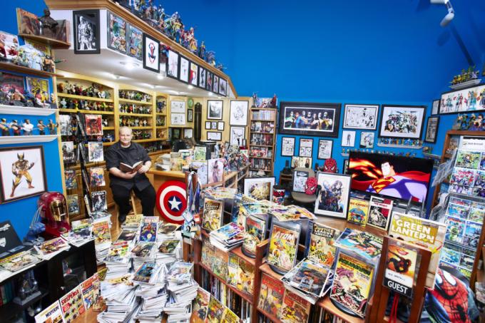 bob bretall guinness1 680x453 Bob Bretall, Besitzer der größten Comicsammlung der Welt