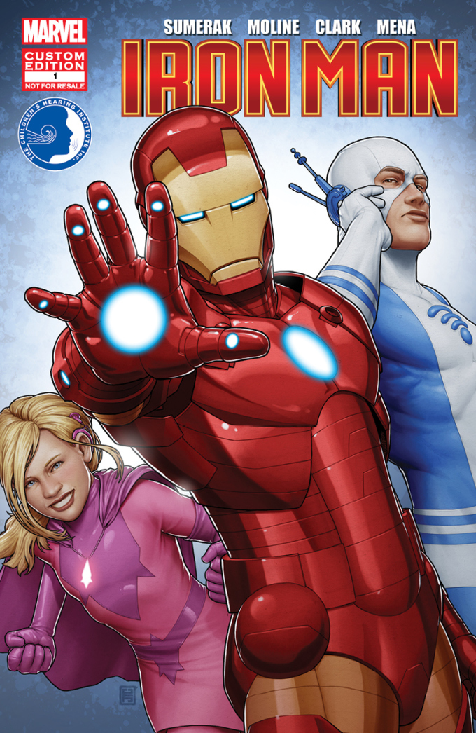 hearingaidcover1 680x1046 Marvel erfindet die schwerhörigen Superhelden Sapheara und The Blue Ear