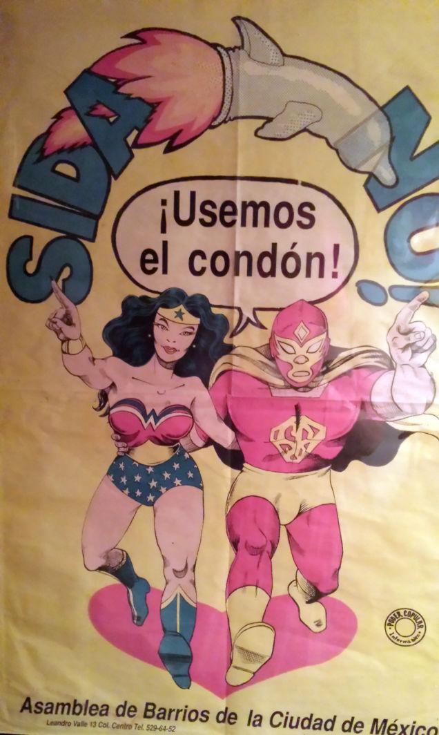 vdk0v5euodn2ozafo1jn1 Als sich Wonder Woman und ein Luchadore zusammentaten, um Safer Sex zu promoten