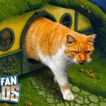 Super Fan baut ein Hobbithöhlen-Katzenklo