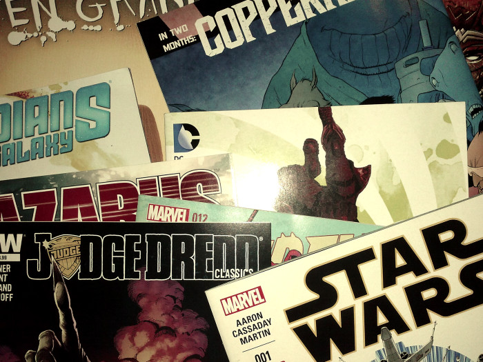 Meine Comickäufe vom 21. Januar 2015 (Guardians, Ten Grand, Copperhead, Lazarus, Judge Dredd, Star Wars, Wonder Woman)