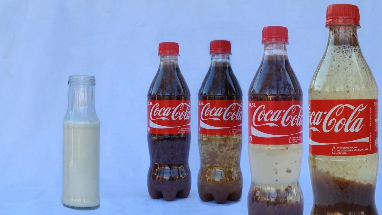 Cola und Milch macht klare Cola