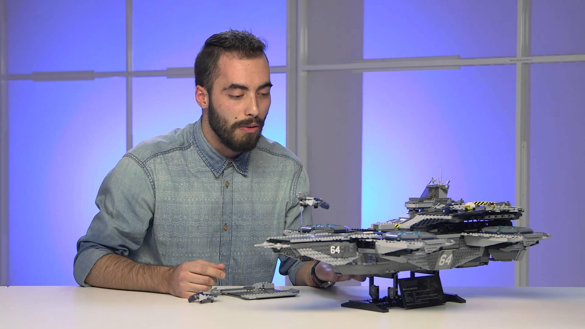 Es gibt einen offiziellen LEGO S.H.I.E.L.D. Helicarrier und er ist riesig, aber doch viel zu klein!