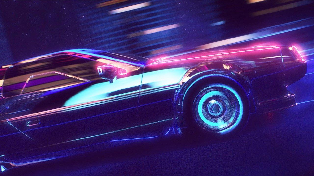 """""""Retrowave"""" ist eine optische Mischung aus """"Back to the Future"""" und """"TRON"""""""