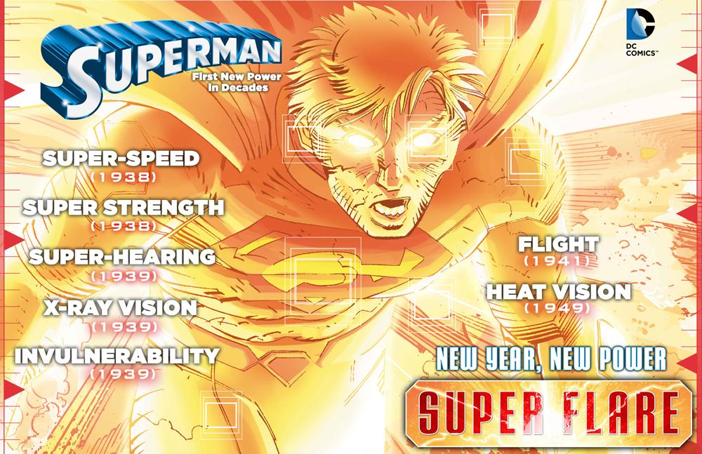 Superman hat nicht nur ein neues Kostüm, sondern auch eine neue Superkraft!