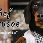 Crusoe derckel zeigt uns, wie man richtig Bruschetta macht