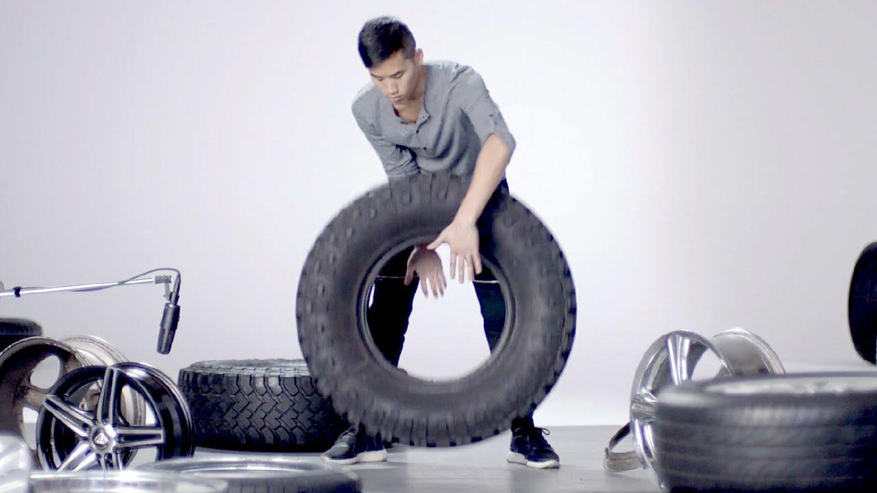 Andrew Huang macht Musik mit Autoreifen und -felgen