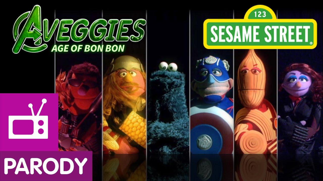 "Die Sesamstraße parodiert ""Avengers: Age of Ultron"" mit ""Aveggies: Age Of Bon Bon"""