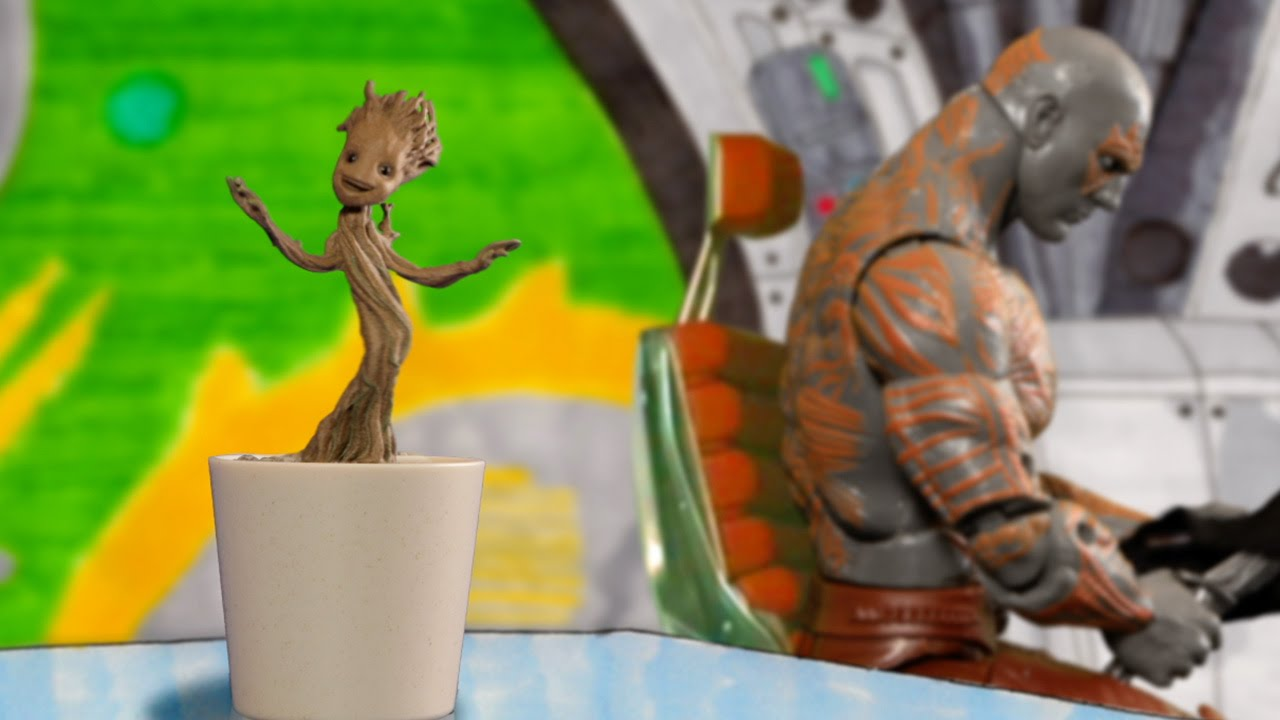 """Guardians of the Galaxy"": Baby Groot tanzt auch in Stop Motion gar zauberhaft"