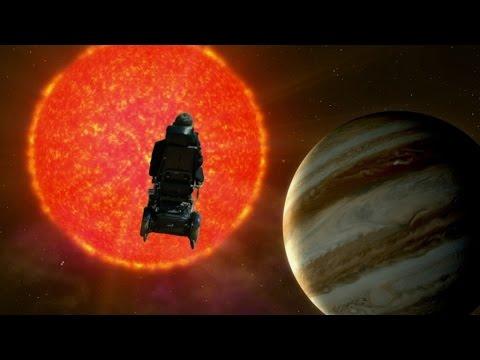 """Steven Hawking fliegt durch das Weltall und singt den """"Galaxy Song"""" von Monty Python"""