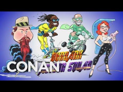 Conan O'Brien denkt sich mit Bruce Timm neue Superhelden aus
