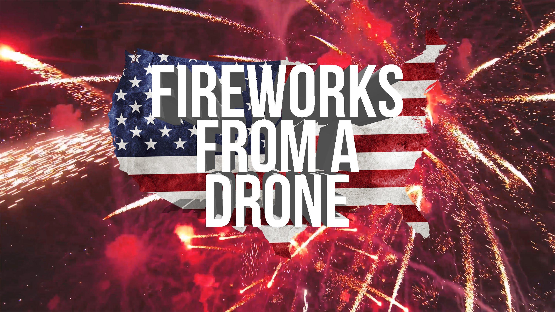 Dank Drohne mitten im Feuerwerk
