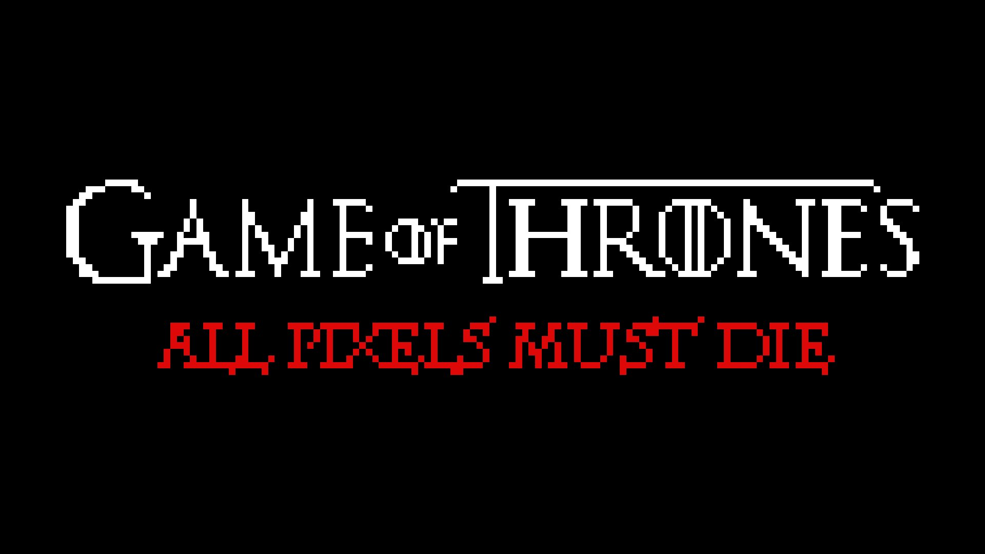 "Gepixelte Tode aus ""Game of Thrones"""
