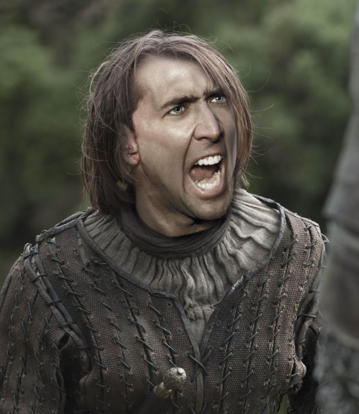 """Nicolas Cage als jeder Charakter in """"Game of Thrones"""""""