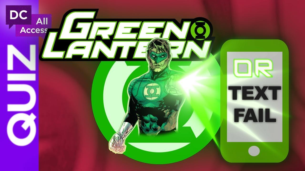 Green Lantern or Text Fail?