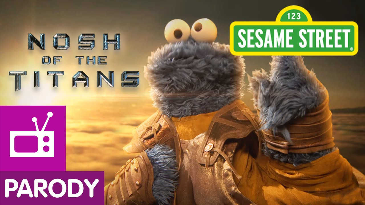 """Mit """"Nosh of the Titans"""" parodiert die Sesamstraße """"Clash of the Titans"""""""