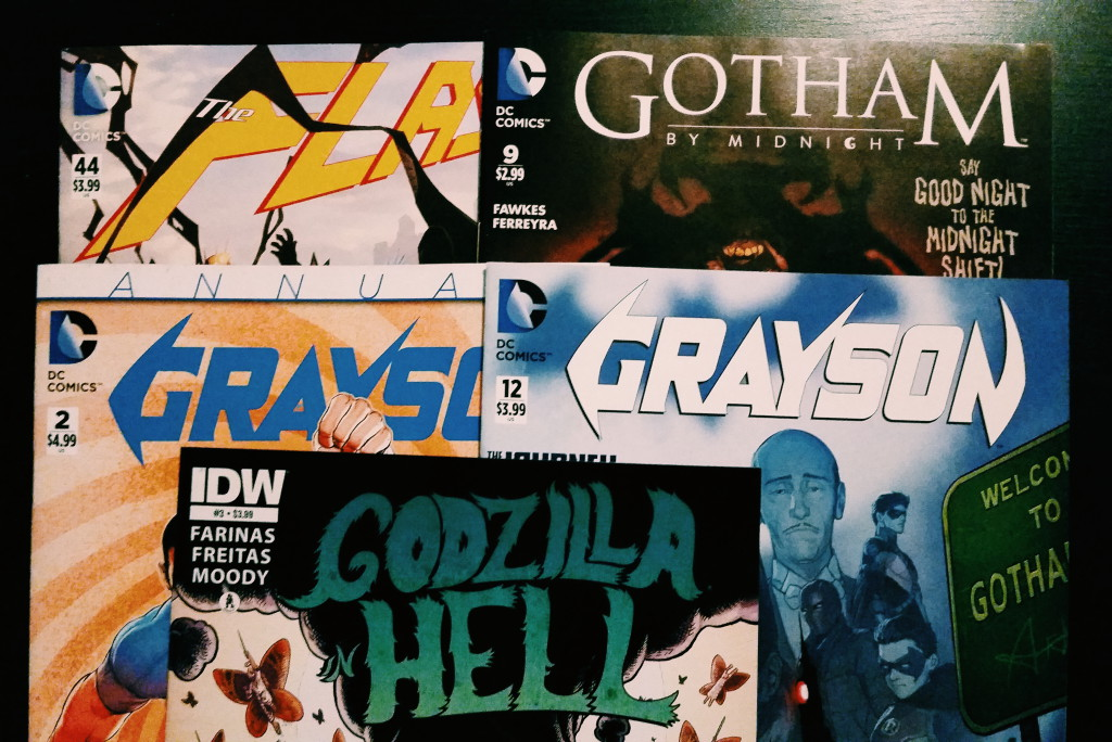 Mein Comic Haul vom 30. September (Flash, Grayson, Godzilla in Hell, Gotham by Midnight)