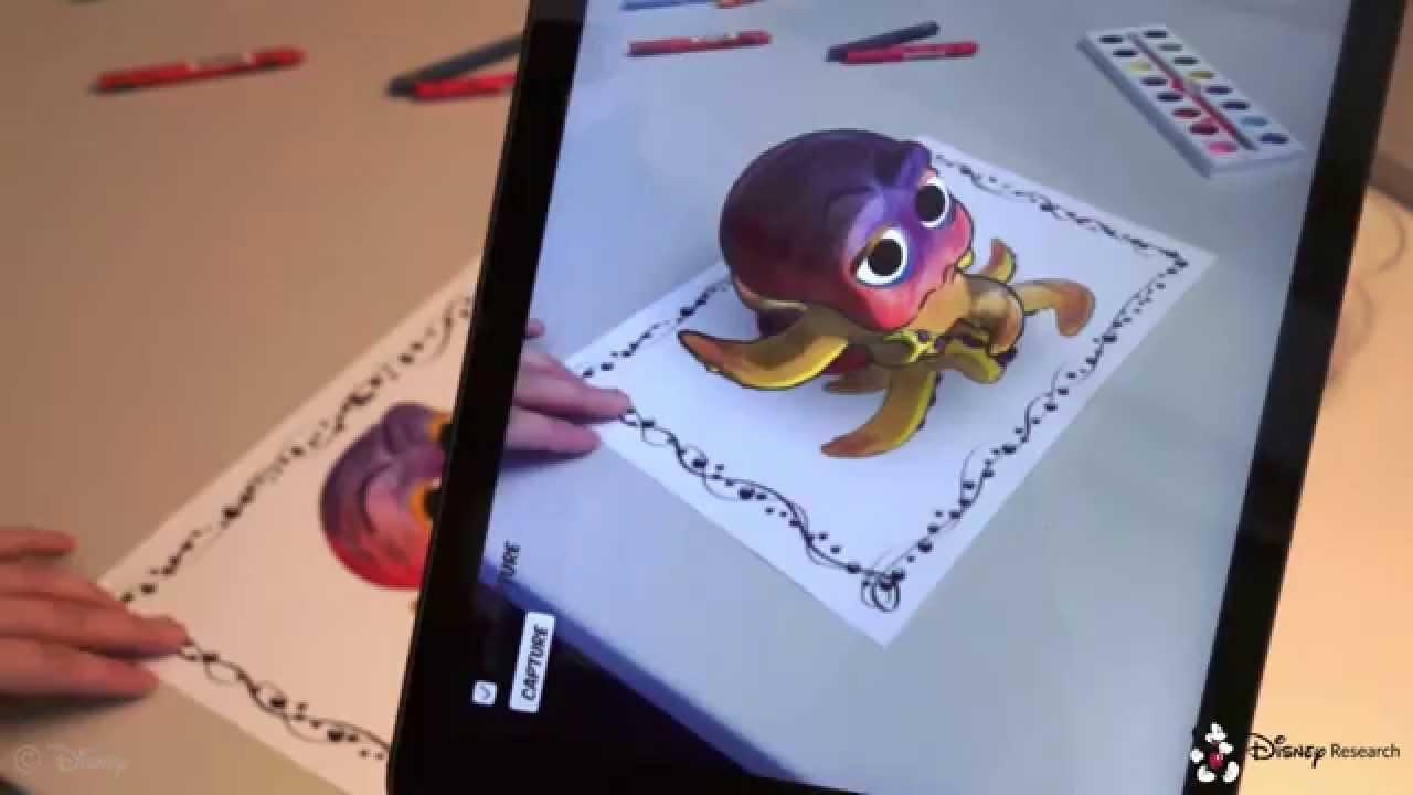 Disney hat 3D-Ausmalbücher entwickelt