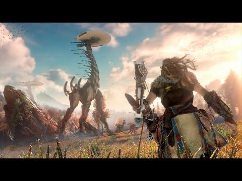 """Im Spiel """"Horizon: Zero Dawn"""" geht es immer noch darum, Roboterdinosaurier zu erlegen"""