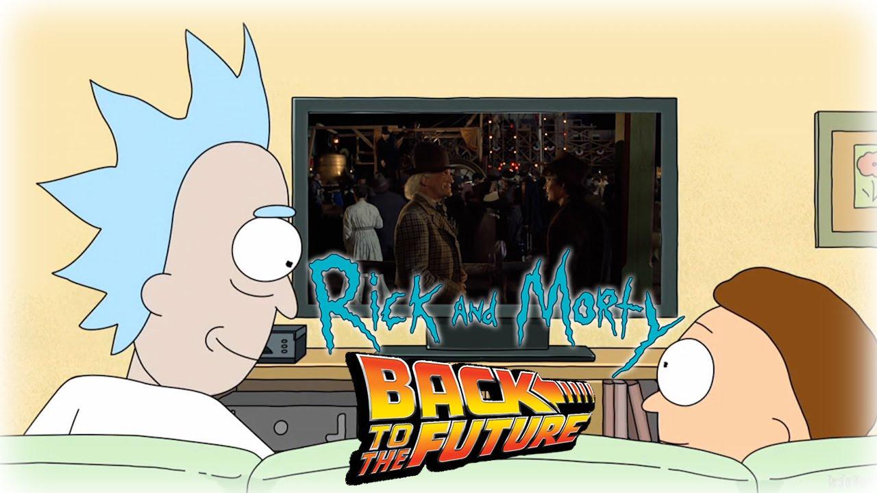 """Rick and Morty schauen das """"Zurück in die Zukunft"""" eines alternativen Universums"""