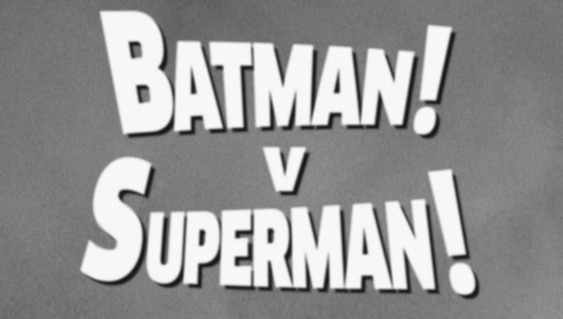 """Wie """"Batman v Superman: Dawn of Justice"""" aussähe, wäre er 1949 gedreht worden"""