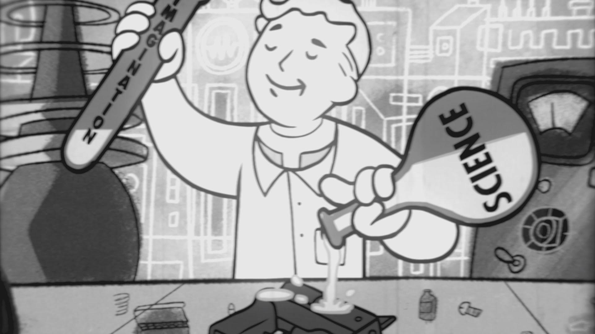 "You are S.P.E.C.I.A.L.: Ein Cartoon im 1950s Style erklärt uns das Attribut ""Intelligenz"" aus ""Fallout"""