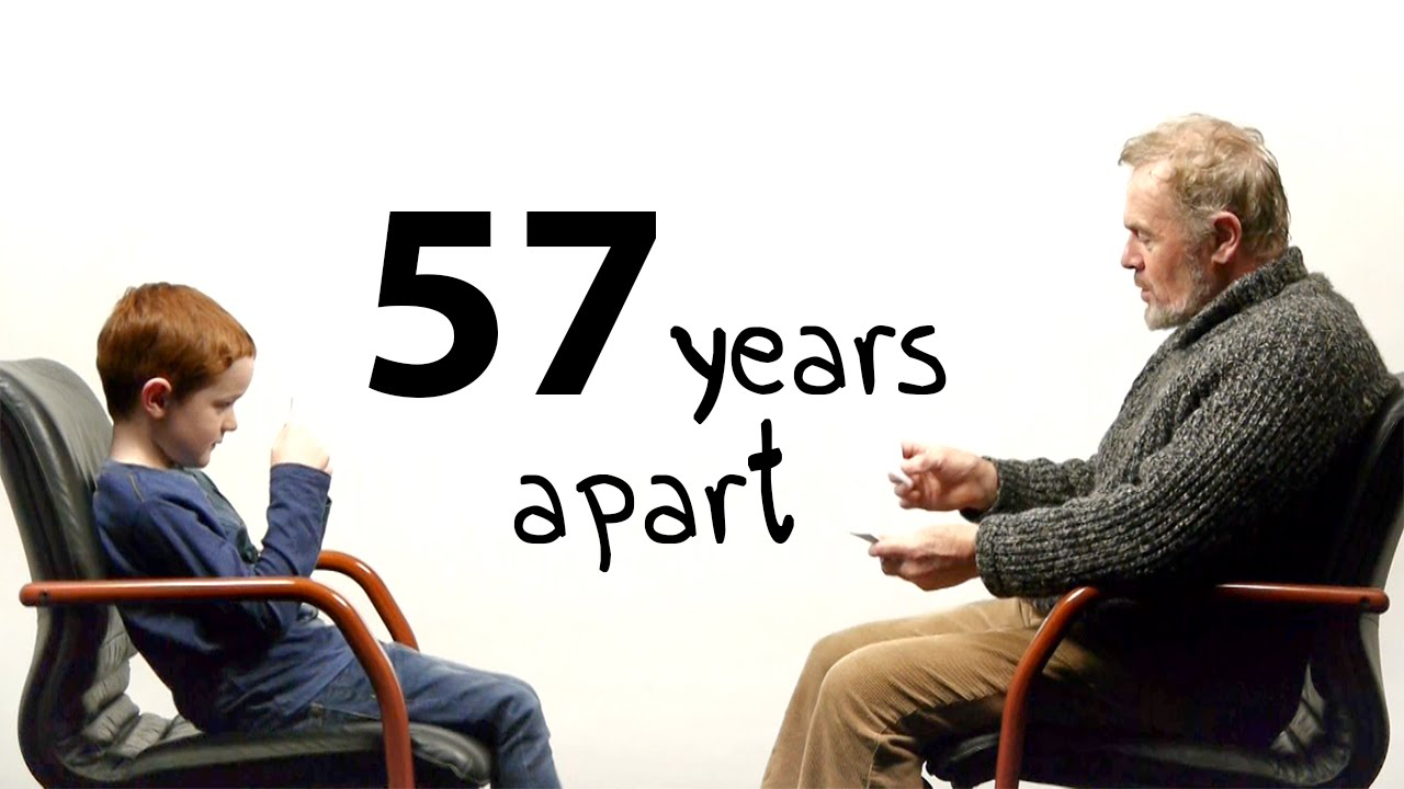 """57 Years Apart – A Boy And a Man Talk About Life"""