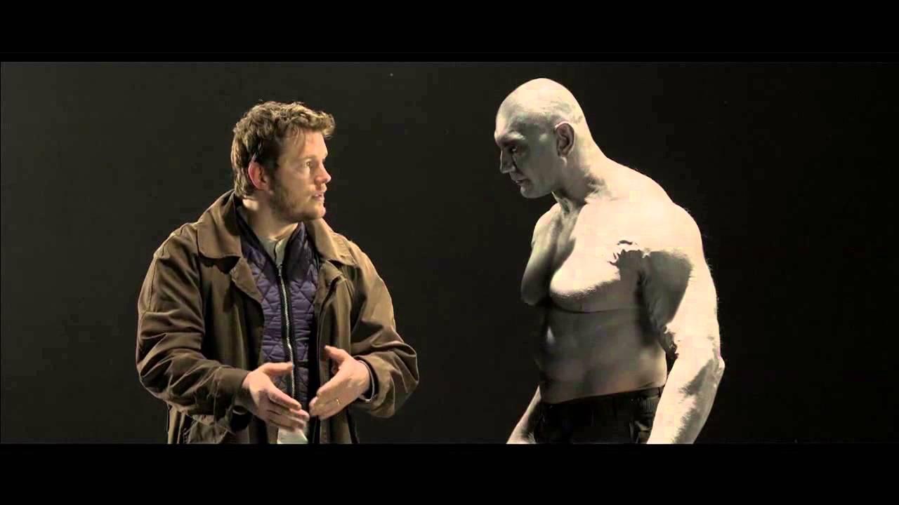 """Crisp Rat und Dave Bautista beim Screentest für """"Guardians of the Galaxy"""""""