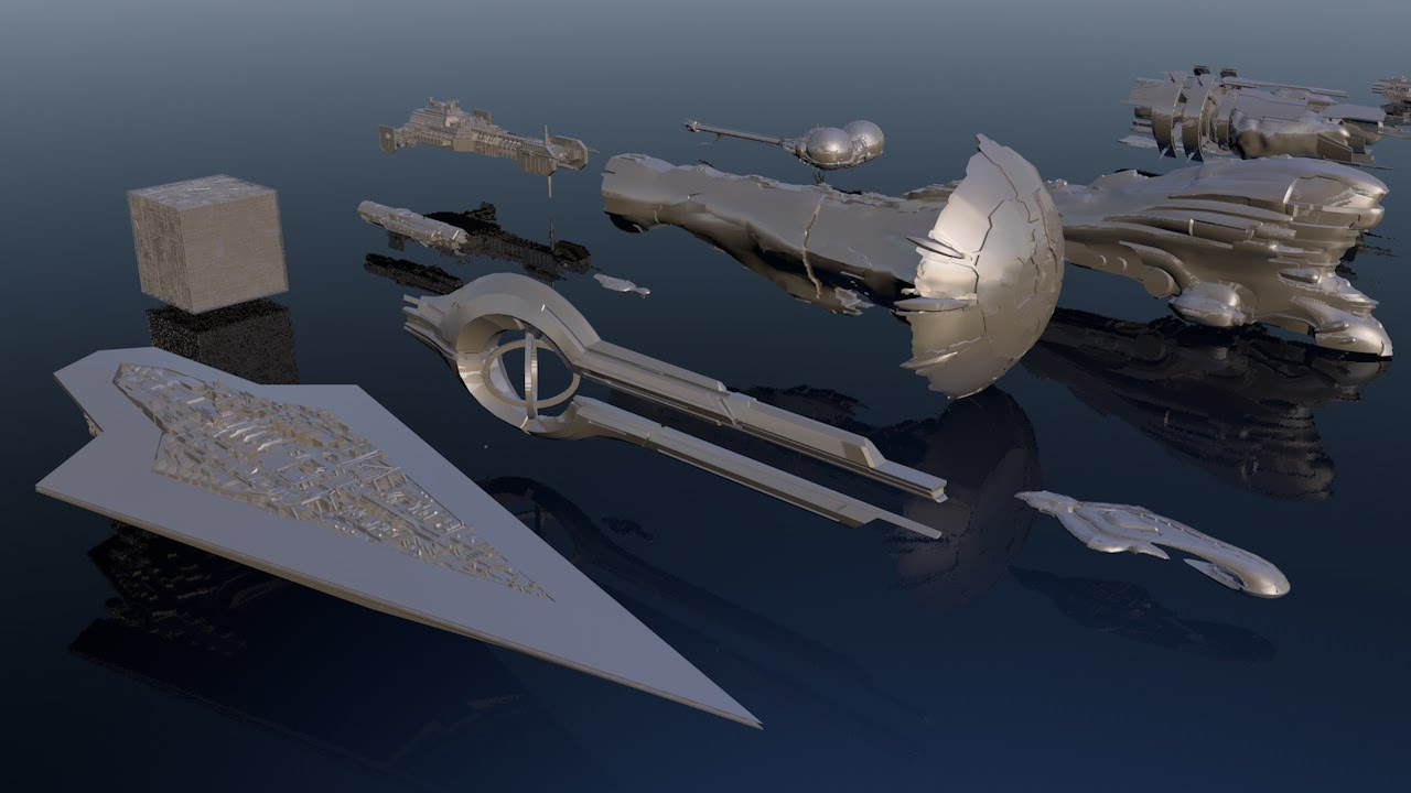 Die Größe von Raumschiffen aus Spielen und Filmen in einem praktischen Vergleich