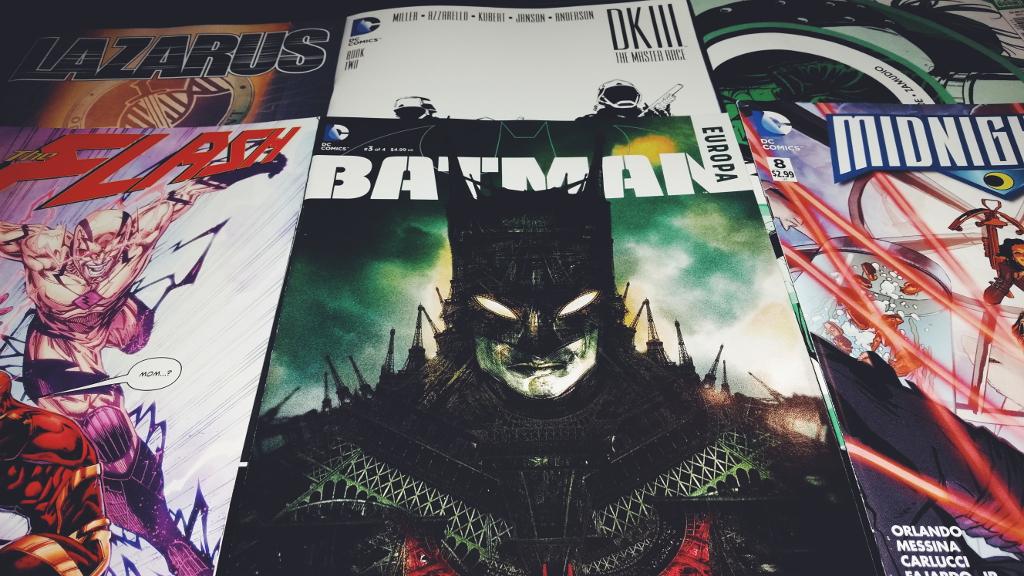 Mein Comic Haul vom 06.01.2016 (Flash, Lazarus, Dark Knight III, Midnighter, Welcome Back, Batman in Europa)