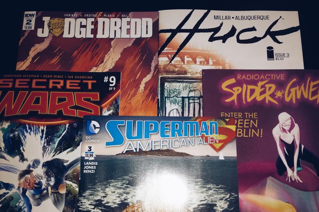 Mein Comic Haul vom 20.01.2016 (Huck, Secret Wars, Spider-Gwen, Superman: American Alien, Judge Dredd)