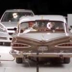 Ein altes und ein neues Auto im Crashtest