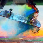 """Explosions of Color: Skateboarding in Slow Motion"""
