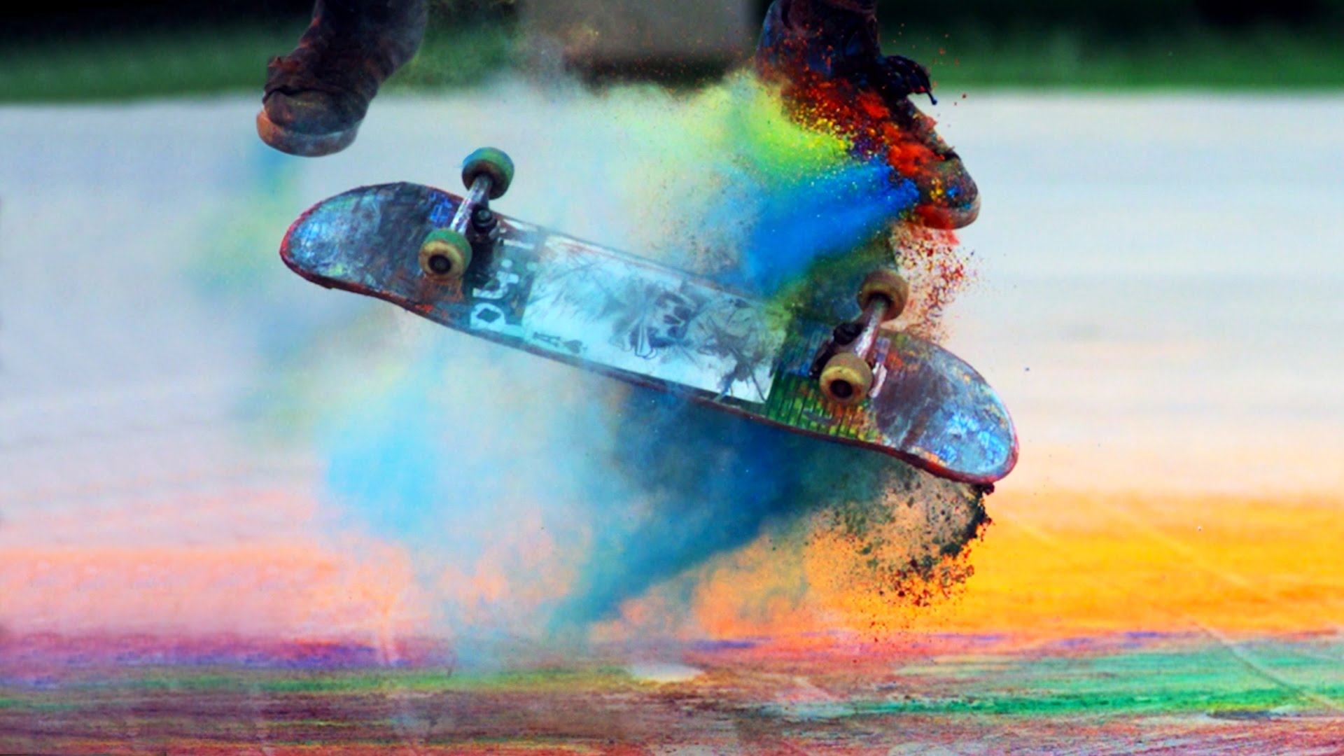 """""""Explosions of Color: Skateboarding in Slow Motion"""""""