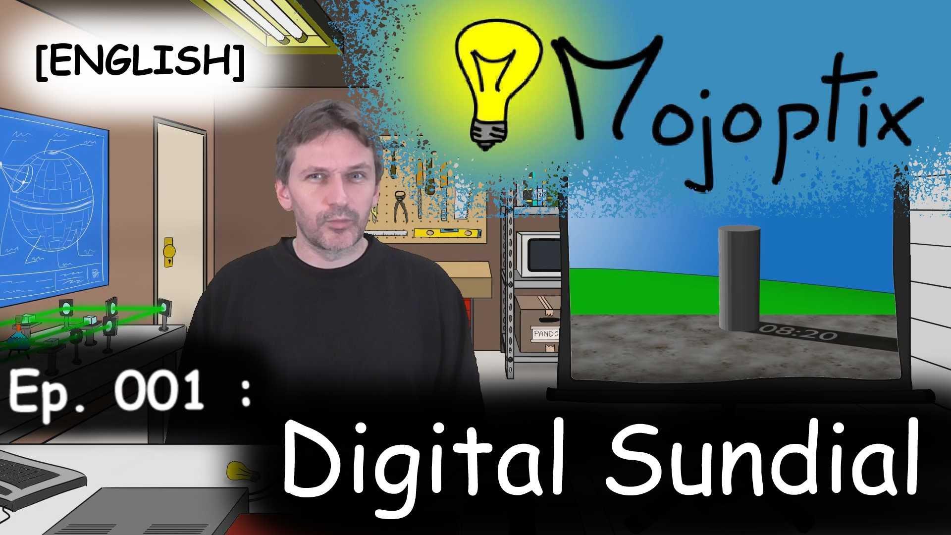 Eine 3D-gedruckte Sonnenuhr mit digitaler Anzeige