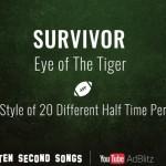 """""""Eye of the Tiger"""" von Survivor im Stil 20 anderer bekannter Künstler"""