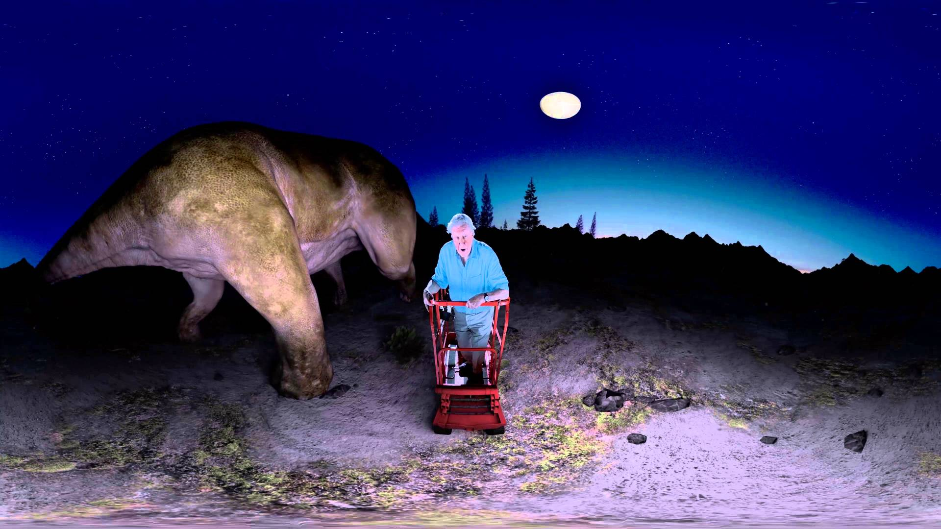 Sir David Attenborough stellt uns den größten Dinosaurier der Welt in VR vor