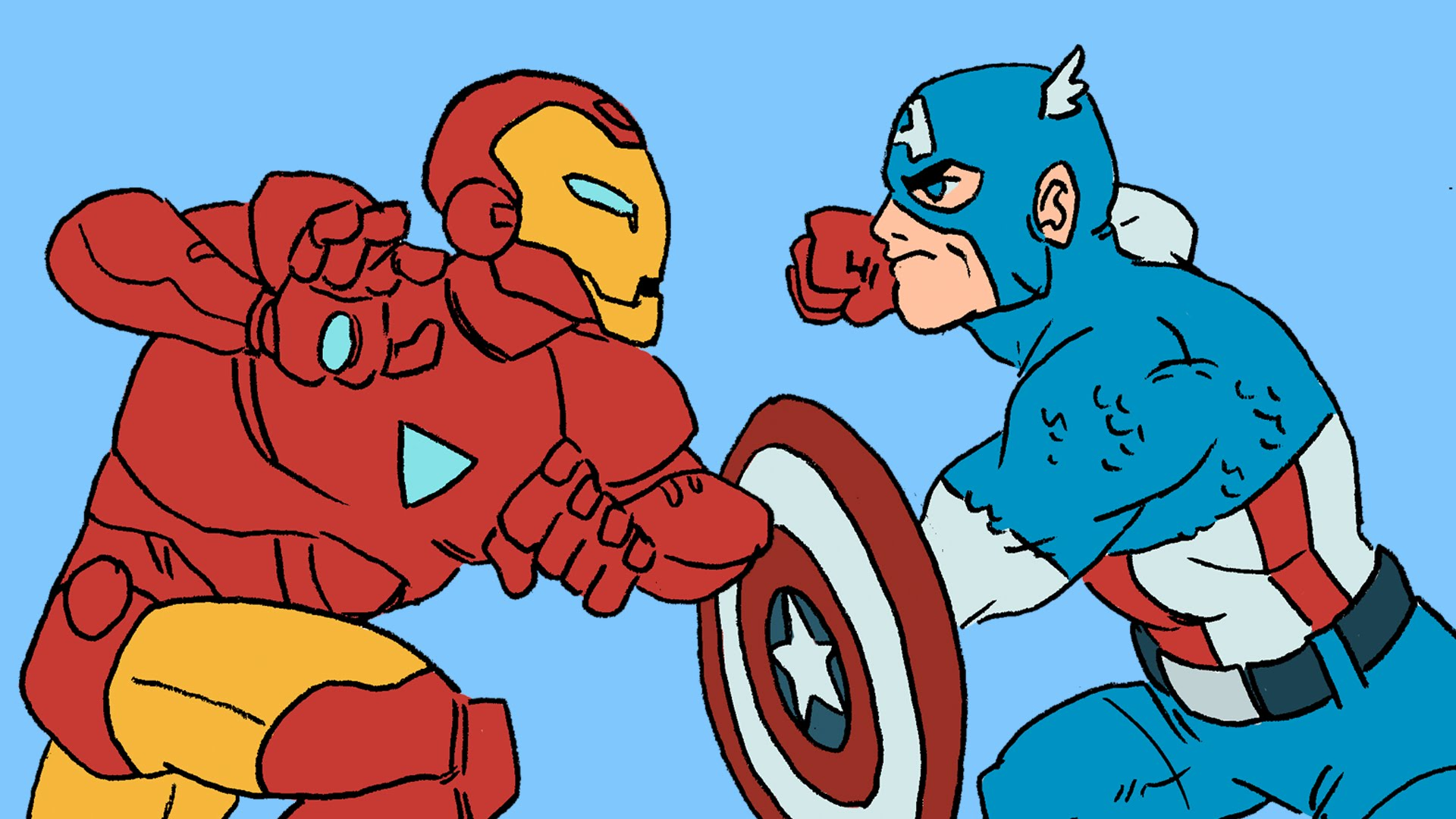 """Der komplette """"Civil War"""" (Marvel… Comics… ihr wisst schon) in vier Minuten"""