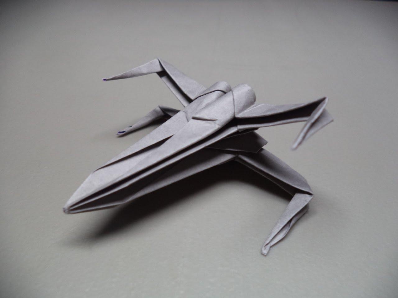Wie man einen Origami-X-Wing bastelt
