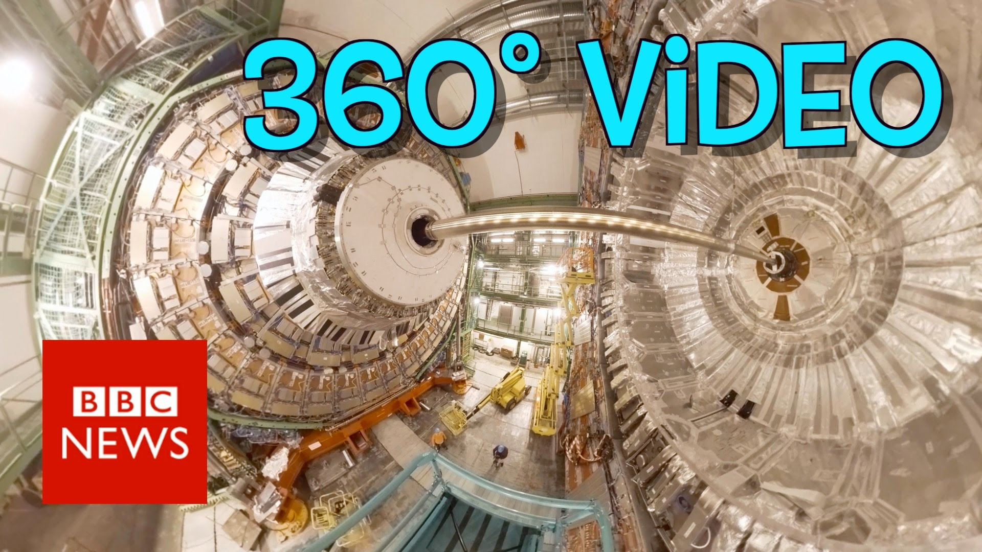 Ein 360°-Video aus dem Large Hadron Collider