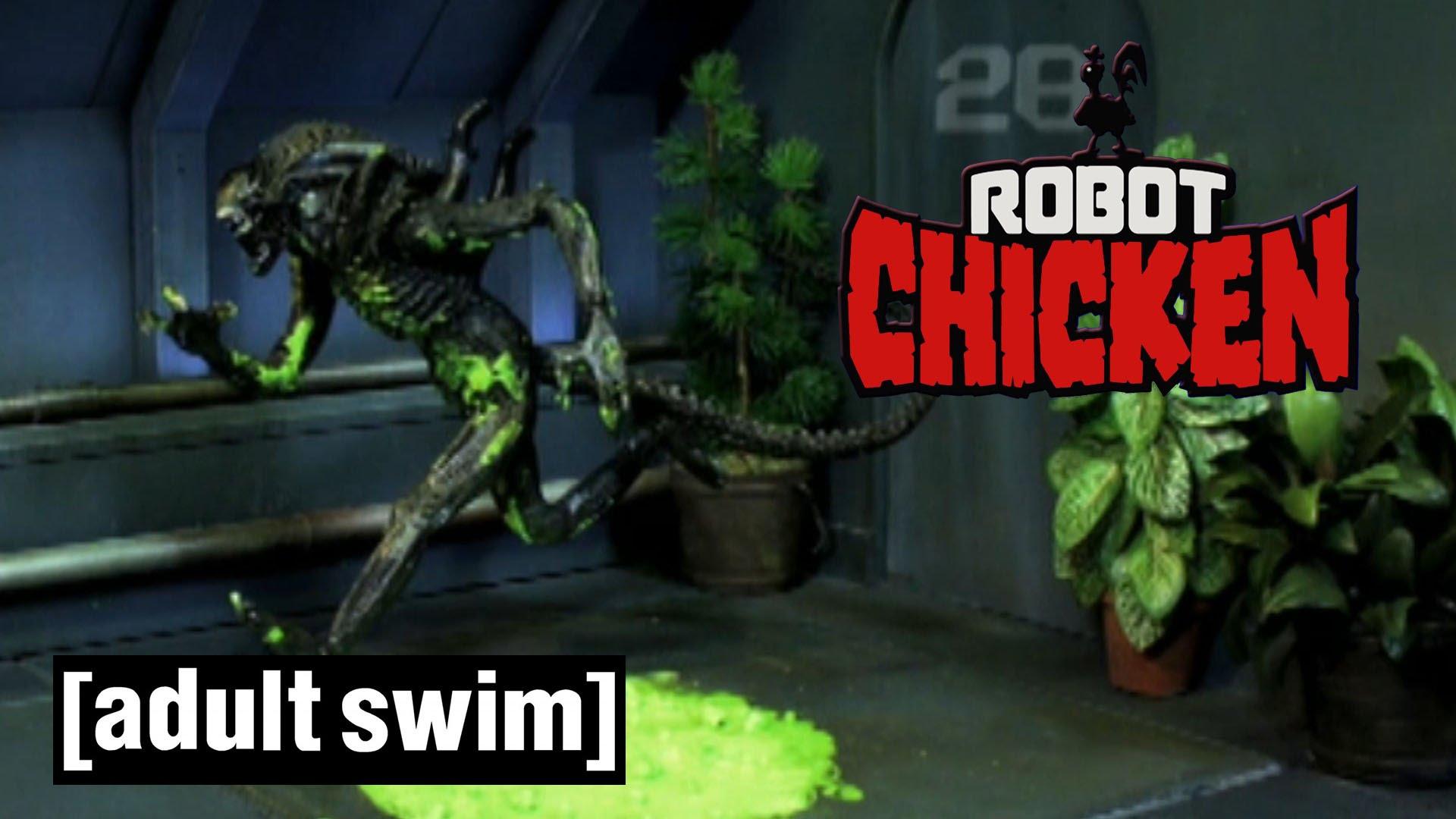 """Erinnert ihr euch noch an """"Alien"""", die klassische Comedy von Ridley Scott? Robot Chicken erinnert sich."""