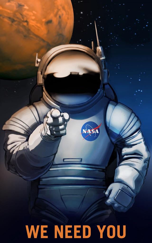 Die NASA hat sehr überzeugende Rekrutierungsposter für bemannte Mars-Missionen