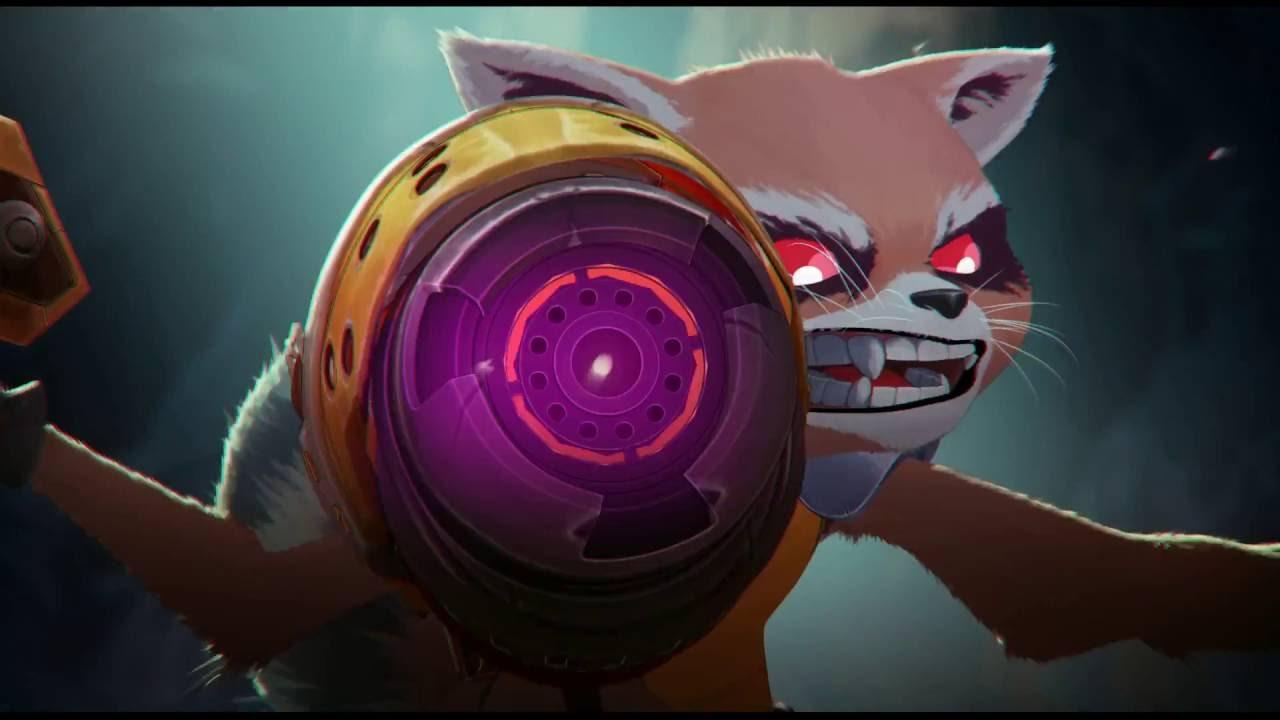 Ein kurzer Animationstest für einen Cartoon mit Groot & Rocket Raccoon