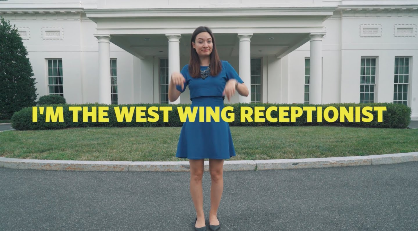 Eine Tour durch den West Wing des Weißen Hauses in amerikanischer Zeichensprache