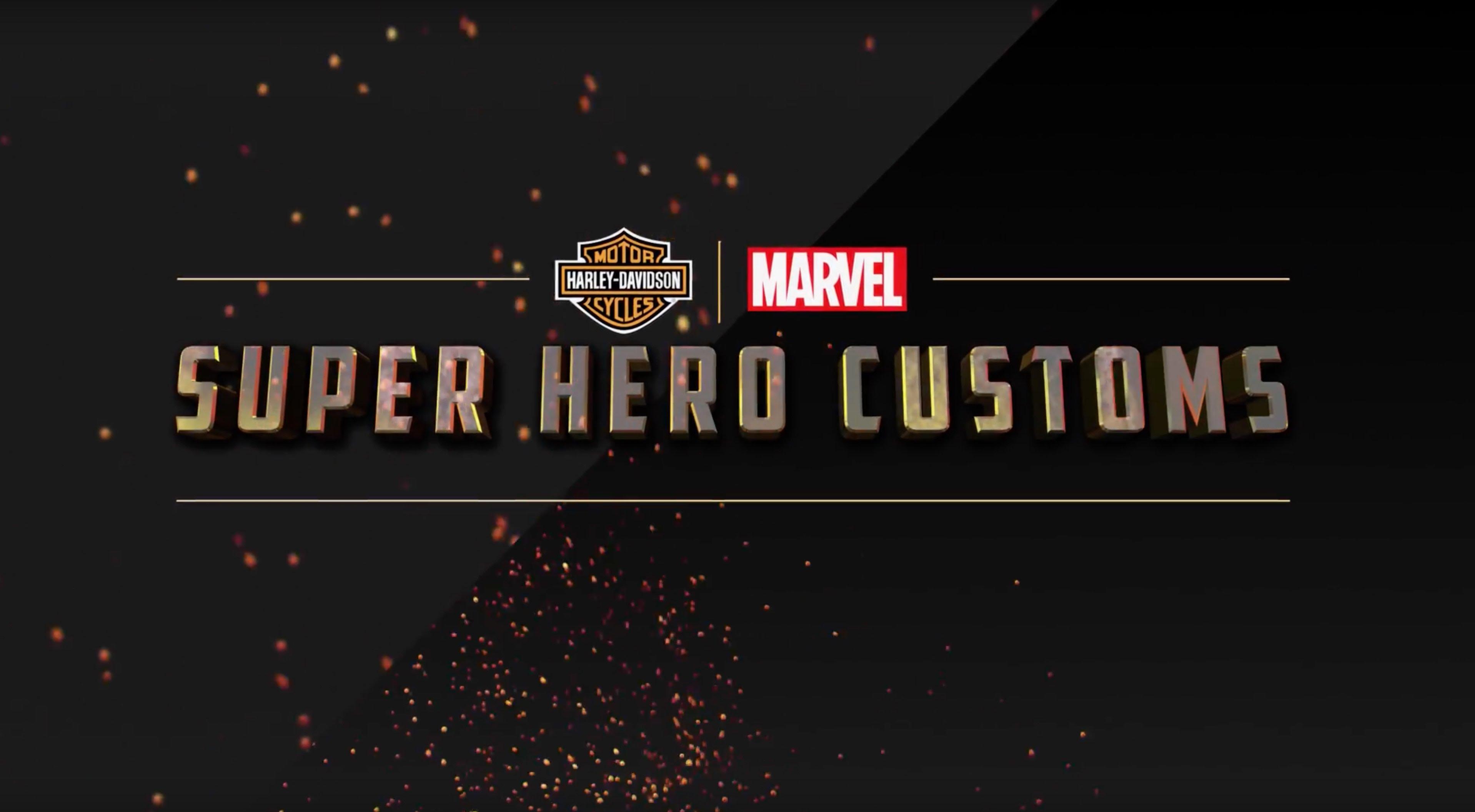 Marvel und Harley Davidson haben zusammen Motorräder gestaltet