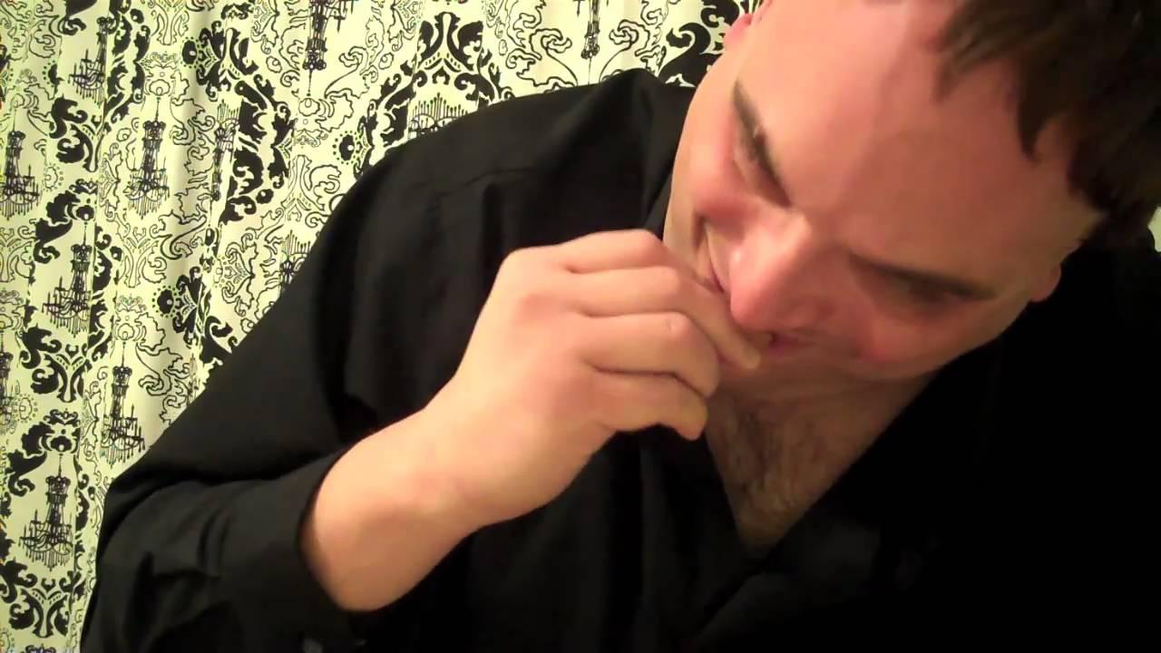 Quentin Tarantino Eating Hot Pizza Rolls