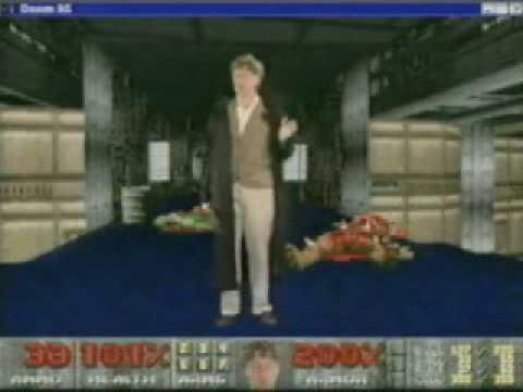"""1995 war das Jahr, in dem Bill Gates mit Schrotflinte in """"DOOM"""" auftrat und über Windows 95 sprach"""