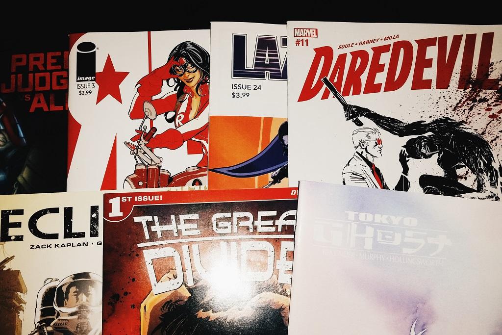 Mein Comic Haul vom 13. September 2016 (Daredevil, The Devide, Eclipse, Lazarus, Red One, Predator vs. Judge Dredd vs. Aliens, Tokyo Ghost)